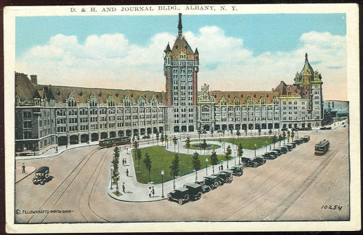 Postcard of D & H and Journal Building Albany, New York