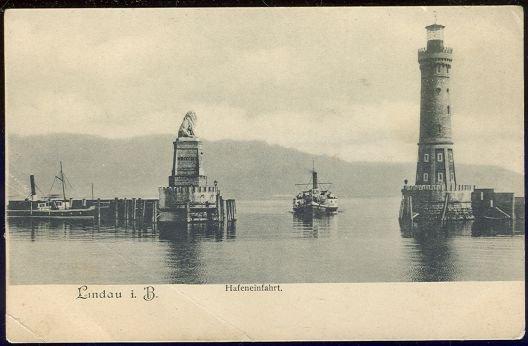 Postcard of Lindau im Bodensee Hafeneinfahrt, Germany