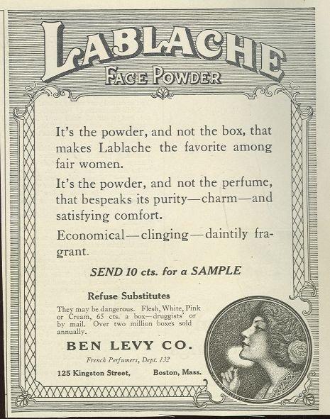 LaBlache Face Powder 1921 Magazine Advertisement