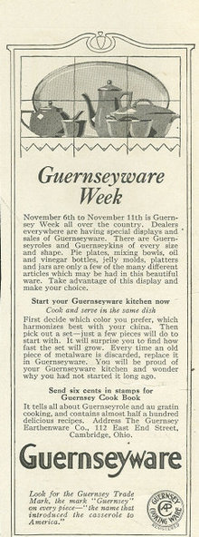Guernseywareware 1916 Ladies Home Journal Ad