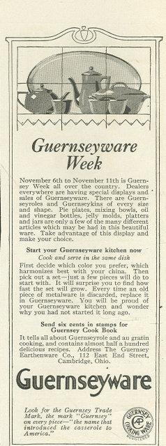 Guernseywareware 1916 Ladies Home Journal Ad