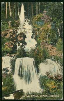 Postcard of Lower Falls, Shasta Falls, Oregon