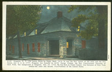 Postcard Old Senate House by Night Kingston, NY 1935