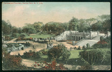 Postcard of Terrace and Fountain Central Park, NYC 1912