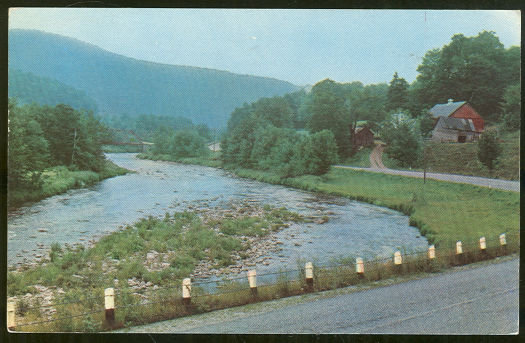 Postcard Molly Stark Trail Between Bennington Vermont