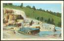 Postcard of Cleopatra Terrace Yellowstone National Park
