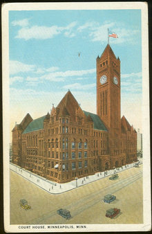 Postcard of Court House, Minneapolis, Minnesota