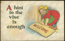 Little Dutch Girl Wishing You Welcome 1915 Postcard