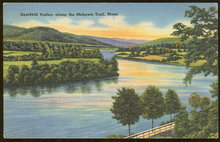 Postcard of Deerfield Valley Mohawk Trail Massachusetts