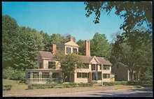 Postcard of The Wayside, Hawthorne's House Concord, MA