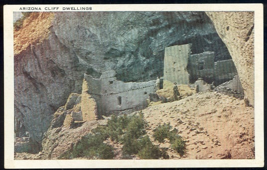 Vintage Postcard of Arizona Cliff Dwellings