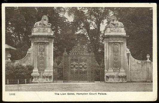 Postcard of The Lion Gate, Hampton Court Palace England