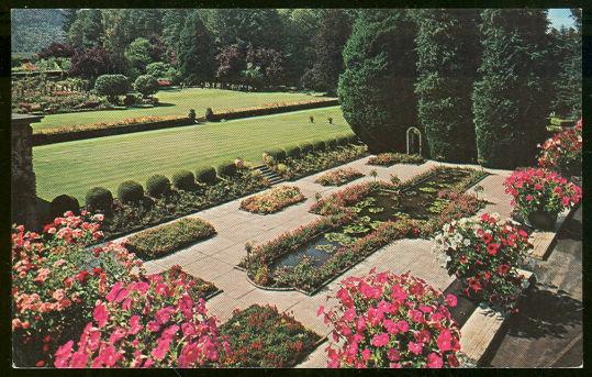 Postcard of Italian Gardens, Bitchard Gardens Victoria