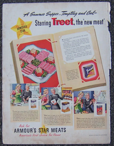 1940 Armour's Star Canned Meats Magazine Advertisment