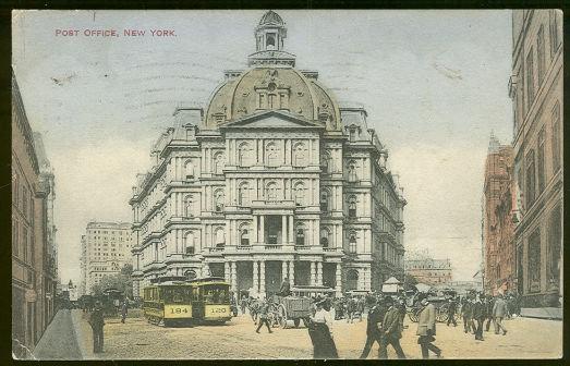 Postcard of Post Office, New York City, New York 1911