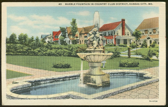 Postcard of Country Club District Kansas City, Missouri