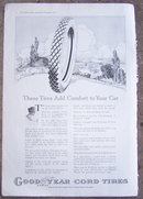 Goodyear Cord Tires, Akron 1916 Magazine Advertisement