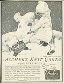 Ascher's Knit Goods 1921 Magazine Advertisement