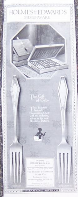Holmes and Edwards Silverware 1921 Advertisement