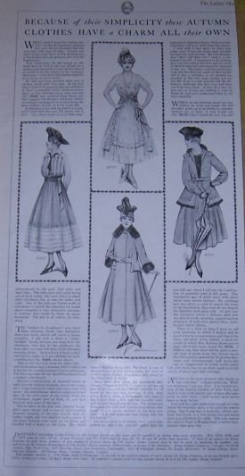 Simplicity and Charms of Autumn Clothes 1916 LHJ Page