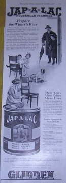 Jap-A-Lac Household Finishes 1916 Advertisement