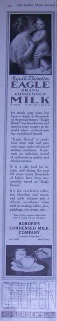 Eagle Brand Condensed Milk 1916 Magazine Advertisement