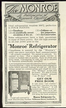 Monroe Refrigerator 1916 Magazine Advertisement