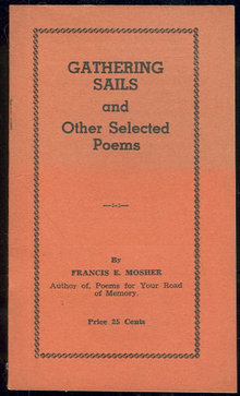 Gathering Sails and Other Poems Signed by Francis Mosher