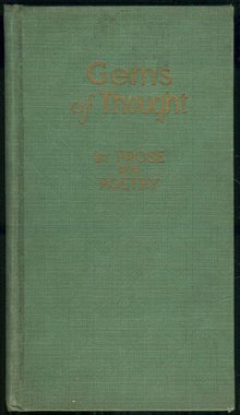Gems of Thought in Prose and Poetry 1937 Inspirational