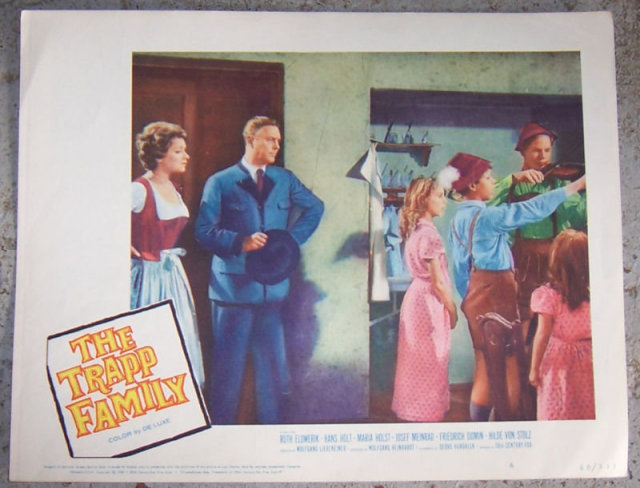 Orginal Lobby Card Trapp Family 1960 20th Century Fox