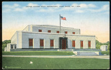 Postcard of US Gold Depository, Fort Knox, Kentucky