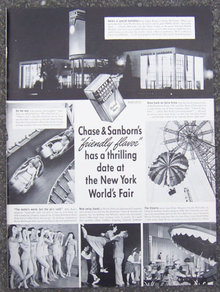 1940 Chase & Sanborn at NYC Fair Magazine Advertisment