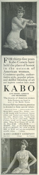Kabo Live Model Corset 1916 Magazine Advertisement