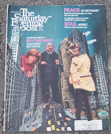 Saturday Evening Post Magazine February 8 1969 Red Grooms on Cover