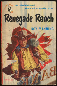 Renegade Ranch by Roy Manning 1950 Vintage Paperback