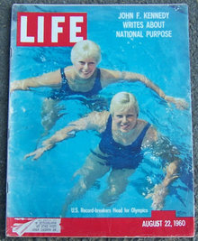 Life Magazine August 22, 1960 1960 Olympics on Cover