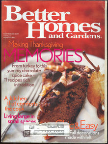 Better Homes and Gardens Magazine November 2002 Holiday