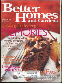 Better Homes and Gardens Magazine November 2002 Holiday