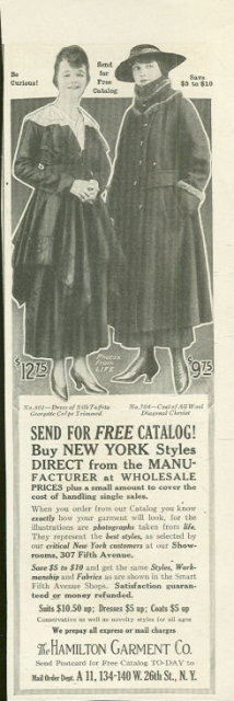 1916 Ladies Home Journal Ad Hamilton Garment Catalog
