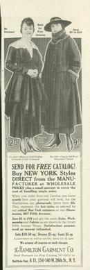 1916 Ladies Home Journal Ad Hamilton Garment Catalog