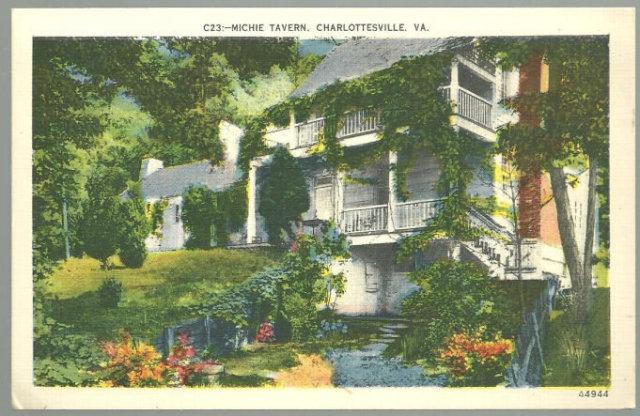 Postcard of The Michie Tavern Charlottesville, Virginia