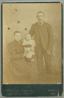Cabinet Photograph of Young Family From Chumlin, Mon