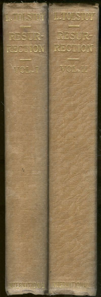 Resurrection by Leo Tolstoy 2 Volume Set 1920