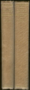 Resurrection by Leo Tolstoy 2 Volume Set 1920