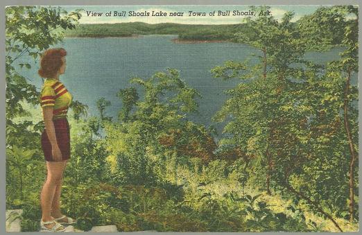 Postcard of Bull Shoals Lake Near Bull Shoals, Ark