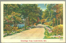 Greetings Postcard from Sarcoxie, Missouri