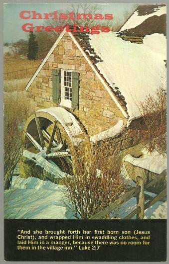 Religious Christmas Greetings Postcard American Tract