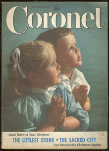 Coronet Magazine December 1952 Christmas Cards