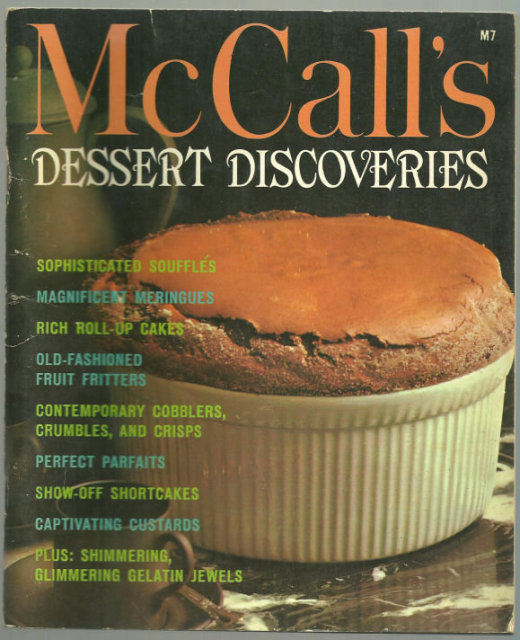 McCall's Book of Dessert Discoveries 1965 Illustrated