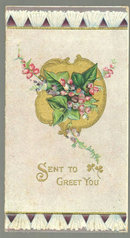 Victorian Christmas Greeting Card Sent to Greet You